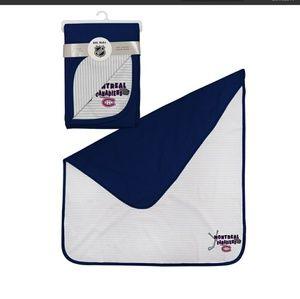 NWT NHL Baby 2- Reversible Receiving Blanket